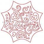 Fafigura - Díszes medál, 7cm