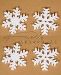 Hungarocell hópelyhek, nagyméretű, 18cm, 4 db/csom - polisztirol hópehely készlet