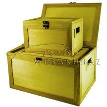 Díszíthető doboz készlet, 3 darabos, fogós 36 x 24 x 19 cm