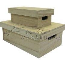 Díszíthető doboz készlet, 2 darabos, fogós, peremes 29,7 x 19,8 x 11 cm