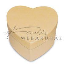 Díszíthető szív alakú doboz, 10,5x9,5x5 cm