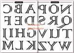 Transzfer papír - Nagybetűs ábécé minta - 2 ív A4