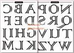 Transzfer papír - Nagybetűs ábécé minta