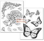Transzfer papír, 2 ív A4 - Lepkés és Rózsás minta - Kreatív Hobby