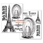 Kreatív hobby - Transzfer papír, 2 ív A4 - Párizs Eiffel torony minta