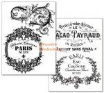 Kreatív hobby - Transzfer papír, 2 ív A4 - Csipkés Vintage minta