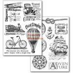 Transzfer papír, 2 ív A4 - Világ körüli utazás minta