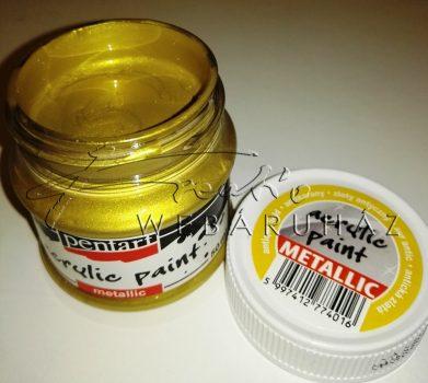 Metál akrilfesték 50 ml antikarany