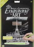 Kreatív hobby - Eiffel-torony ezüst képkarcoló készlet 21x30cm