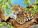 Kreatív hobby - Leopard a fán