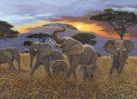Kifestő készlet akrilfestékkel, ecsettel, gyerekeknek 11 éves kortól - 30x40 cm - Kilimanjaro