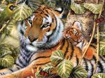 Kreatív hobby - Tigrisek a fák között
