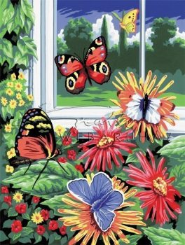 Kifestő készlet gyerekeknek - 20x25 cm - Pillangók