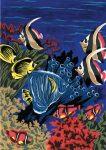 Kreatív hobby - Kifestő készlet, 20x25cm - Víz alatti világ