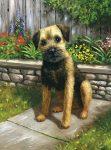 Kreatív hobby - Akril kifestő számokkal - Kutya a kertben