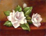 Kreatív hobby - Kifestő készlet vászonra, akrilfestékkel, ecsettel, felnőtteknek, 28x36cm, Magnóliák