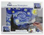 Kifestő készlet vászonra, akrilfestékkel, felnőtteknek - 23x31 cm - Van Gogh: Csillagos éjszaka