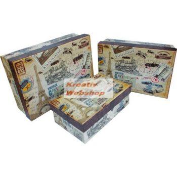 Kreatív hobby - Díszdobozok, Ajándékdobozok - Levelezőlapos doboz