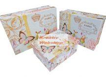 Díszdoboz - Nagyméretű Párizs mintás ajándékdoboz készlet - 3db