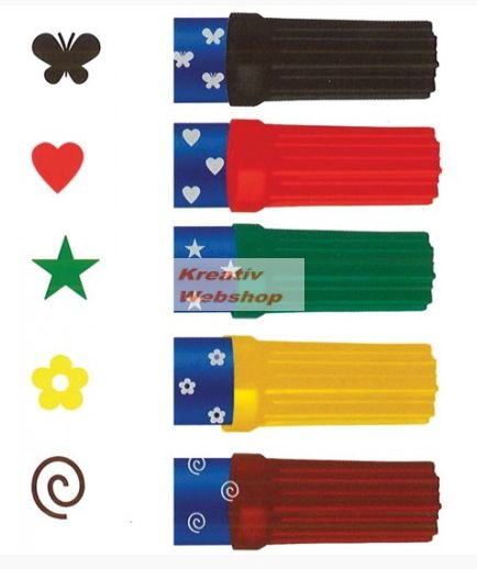 0e86dbe9fd big>Kreatív Hobby</big>, Nyomdázó készlet, filctollas - 6 szín és 6 ...