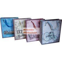 Ajándéktáska, ajándéktasak, dísz tasak - Vintage mintás - különböző színben