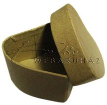 Papírdoboz tetővel, szív alakú, natúr, kicsi méretű, 6 x 6 x 3,5 cm