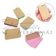 Jegyzettömb, szókártya, 50 lapos, 6 színű, 9x4,5cm, 210gr karton