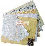 Scrapbook papír, kézzel készített színes papírok