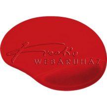 Zselés egérpad, ergonomikus - piros színű