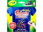 Kreatív hobby - Textilfestő filctoll készlet - Élénk színek - Cray