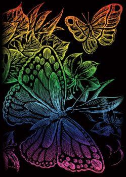 Kreatív hobby - Szivárványos - Pillangók