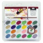 Akvarell festékkészlet ecsettel és akvarell tömbbel - Kezdő akvarellkészlet áttetsző csomagolásban -