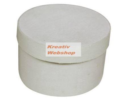 Kreatív hobby - Kreatív hobby doboz, kerek, fehér