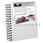 Vázlattömb, személyre szabható, fehér vászonkötéses, gyűrűs - Royal SketchBook A6