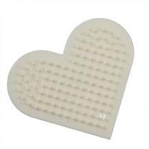 Ecsettisztító, ecsetmosó fésű - szív alakú, műanyag, kb. 8x7cm