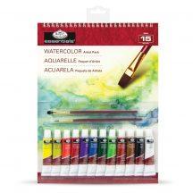 Akvarell festőkészlet 23x30,5cm - 15 részes készlet