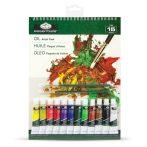 Olaj festőkészlet 23x30,5cm - 15 részes készlet kezdőknek
