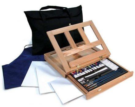 Óriás akril festőkészlet asztali festőállvánnyal, hordtáskával - Royal GRAND Acryl