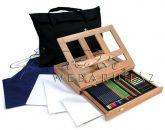 Kreatív hobby - Óriás asztali rajzkészlet asztali festőállvánnyal, hordtáskával - Royal Grand
