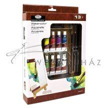 Kreatív hobby - Akvarell festőkészlet asztali festőállvánnyal, hordtáskával - Royal