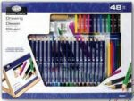 Óriás asztali színes rajzkészlet dönthető A3 asztali rajztáblával - Royal - 48 részes