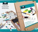 Óriás akril, olaj és akvarell művészkészlet, dobozos asztali festőállvánnyal - Royal Mixed Media 45