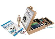 Rajz művészkészlet asztali rajzállványos fiókos dobozzal - Royal - 124 részes készlet