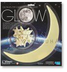 Fluoreszkáló hold és csillagok - sötétben világító szobamatrica készlet