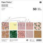 Origami papír 15x15 cm - 60 lapos készlet - Természetes anyagok, 10 féle design