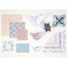 Origami papír 15x15 cm - 60 lapos készlet - Trópusi tavasz