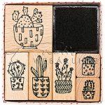 Nyomdakészlet nyomdapárnával, 7 részes - Kaktuszok