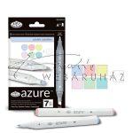 Filctoll készlet, AZURE Marker, 6+1 db-os, Pasztell színek