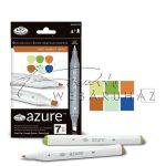 Filctoll készlet, AZURE Marker, 6+1 db-os, Ösvény színek