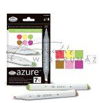 Filctoll készlet, AZURE Marker, 6+1 db-os, Növény színek
